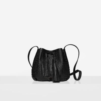 "Small Bucket Bag ""crocodile"""