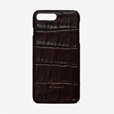 """Etui na iPhone """"błyszczący brązowy krokodyl"""