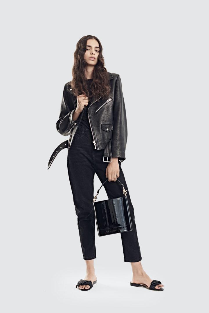 """Cylinder Bag """"black patent leather"""""""