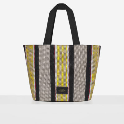 "Big Tote Bag ""striped woven"""