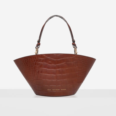 "Big Basket Bag ""glossy caramel crocodile"""