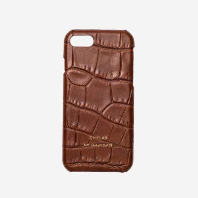 """Etui na iPhone """"karmelowy błyszczący krokodyl"""""""