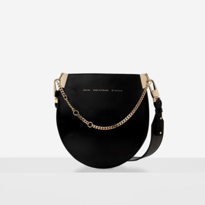 "Horseshoe Chain Bag ""glossy black"""