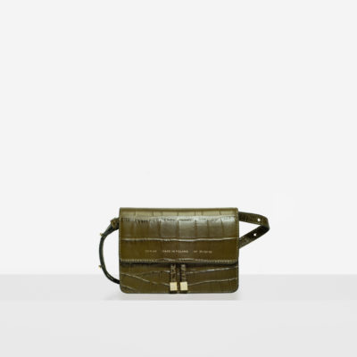 "Mini Belt Bag ""olive crocodile"""