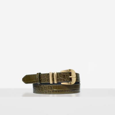 """Vintage"" Belt ""olive crocodile"""