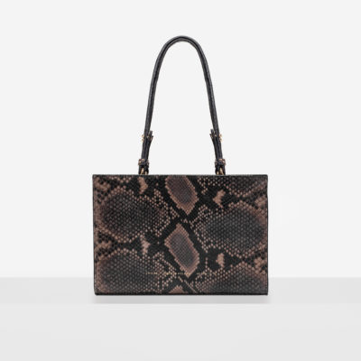 "Mini Tote Bag ""brown python"""