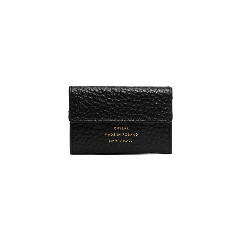 "Double Flap Wallet ""pebbled leather"""